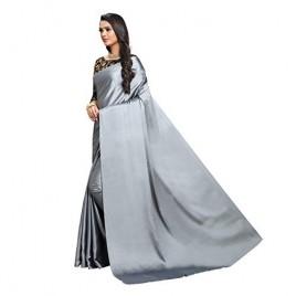 Kashvi Sarees Satin Saree with Black designer Blouse Piece