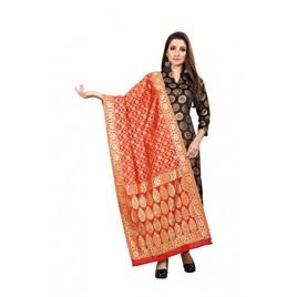 Kashvi Sarees Women's Jacquard Banarasi Silk Dupatta