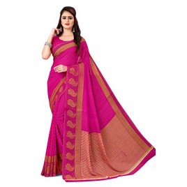 Kashvi Sarees Georgette with Blouse Piece Saree (AS_1168_3_Pink_One Size)