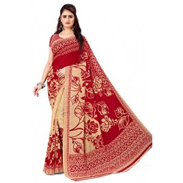 Kashvi Sarees Georgette with Blouse Piece Saree (AS_1086_5_Red_One Size)
