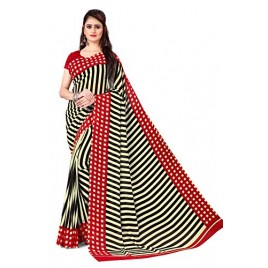Kashvi Sarees georgette with blouse piece Saree (AS_1439_ Red_ One Size)