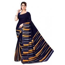 Kashvi Sarees Georgette with Blouse Piece Saree (AS_1474_Blue_One Size)
