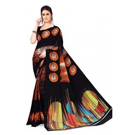 Kashvi Sarees georgette with blouse piece Saree (AS_1349_ Black_ One Size)