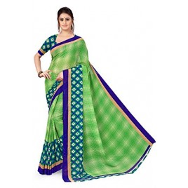 Kashvi Sarees Georgette with Blouse Piece Saree (AS_1115_2_Green_One Size)