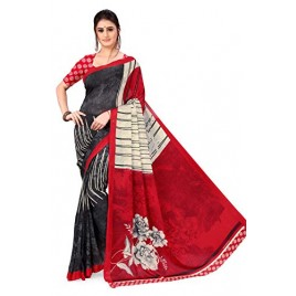 Kashvi Sarees Georgette with Blouse Piece Saree (AS_1261_Red_One Size)