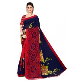 Kashvi Sarees georgette with Blouse Piece Saree (AS_1336_ Blue_ One Size)