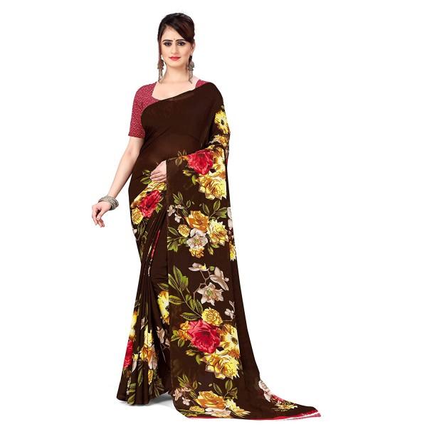 Kashvi Sarees Georgette Saree with Blouse Piece(AS_1052_2)