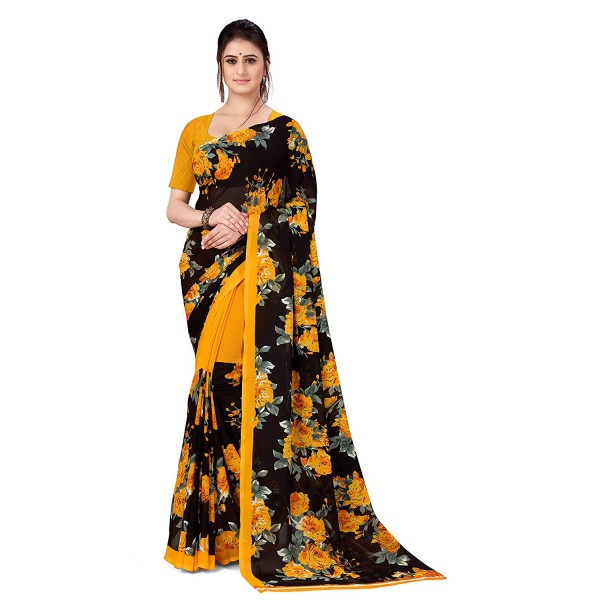 Kashvi Sarees Georgette Saree with Blouse Piece