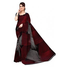 Kashvi Sarees Georgette with Blouse Piece Saree (AS_1472_Black_One Size)