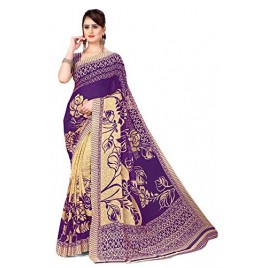 Kashvi Sarees georgette with blouse piece Saree (AS_1086_6_ Purple_ One Size)