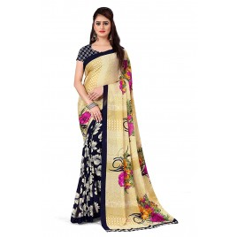 Anand Sarees Bhagalpuri georgette with blouse piece Saree