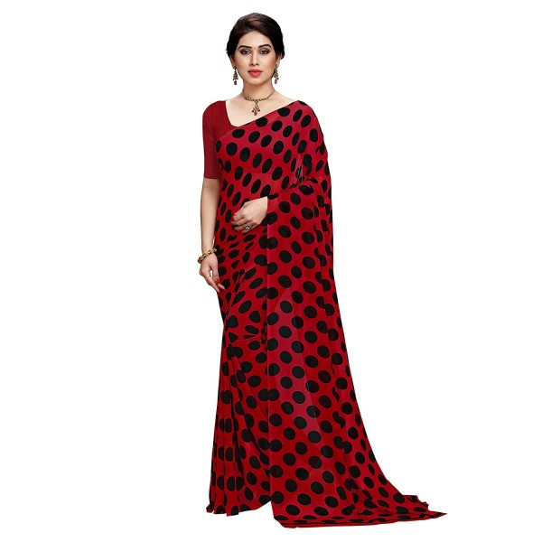 Kashvi Sarees Georgette Saree (1612_1_RED_one Size)