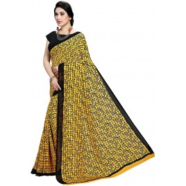 Kashvi Sarees Georgette Printed Daily Wear Casual Wear Saree with Un-stitched blouse for Women