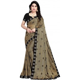 Kashvi Sarees Lycra Blend Embellished Woven Saree with Un-stitched Blouse for Women