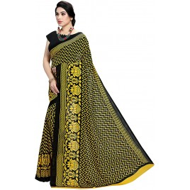 Kashvi Sarees Georgette Printed Saree with Un-stitched blouse for Women