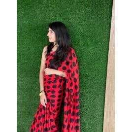 Kashvi Sarees Georgette Saree (1612_1_RED_one Size)