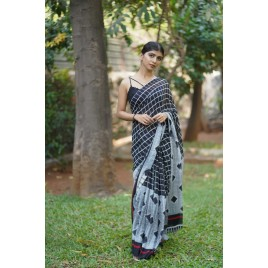 Printed, Checkered Daily Wear Georgette Saree  (Multicolor)