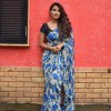 Bold Blue Color Floral Printed Faux Georgette saree With Blouse Piece