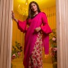Decent Pink Floral Printed Faux Georgette Saree With Blouse Piece