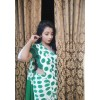 Printed Daily Wear Georgette Saree  (White)