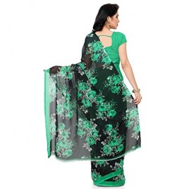 Kashvi Sarees Faux Georgette Green & Multi Color Printed Saree With Blouse Piece ( 1152_3 )
