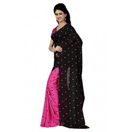 Kashvi sarees Women's Faux Georgette Saree (1262_1 )