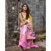 Floral Print Daily Wear Georgette Saree  (Pink)