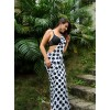 Printed Daily Wear Georgette Saree  (White, Black)